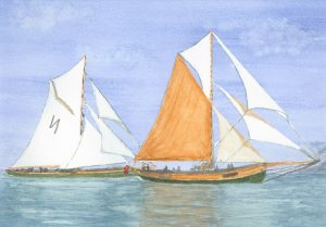 Watercolour Boats